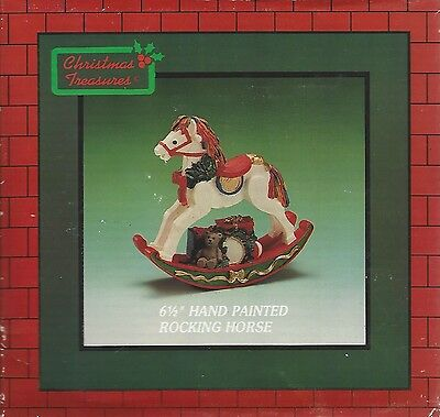 """Rocking Horse - Hand Painted 6 1/2"""" by Christmas Treasures"""