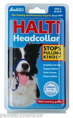 Halti head collar dog size 0,1,2,3,4,5 padded, black,red, brown.