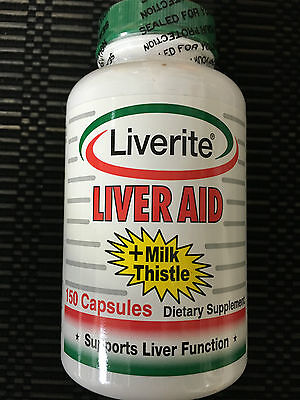 Liverite Liver Aid Plus Milk Thistle 150 Count