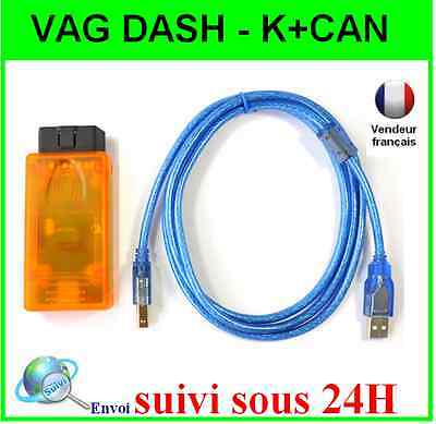 Interface Vag Dash Can - Vagdash K+Can V5.29 Vw Seat Skoda - Scanner Vagcom Obd2