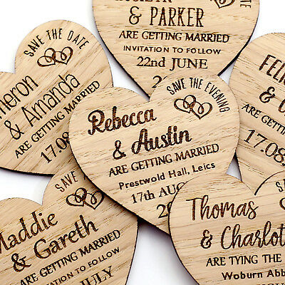 Save The Date Magnet Wood Wedding Rustic Wooden Save The Date Magnets