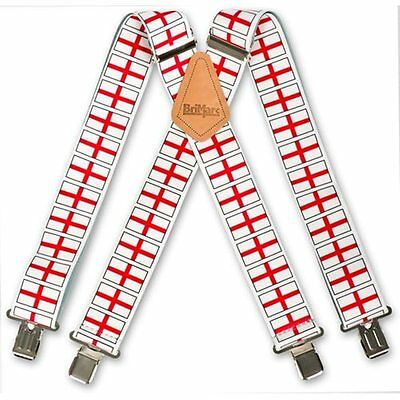Mens Metal Clip England English St Georges Three Lions Flag Work Trouser Braces