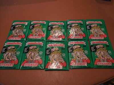 1987 Garbage Pail Kids GPK 10 unopened packs series 15  die cut priced 25c