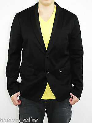 NWT DIESEL Mens Sexy Slim Fit Jilizia Rocker Black Tuxedo Jacket Blazers Coats