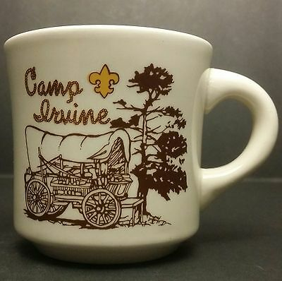 Vintage Boy Scouts of America - Camp Irvine BSA Mug - Likely from Late 70s - 80s