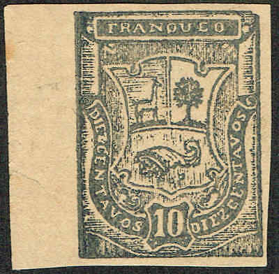Scott # 10N12 - 1885 - ' Coat of Arms ', Moquegau provisional issue,No Ovpt