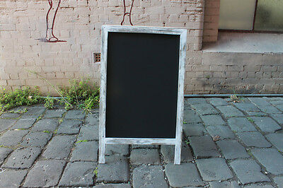 Large A-Frame Chalkboard, Recycled Timber, Rustic Blackboard, White Washed