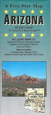 Road Map of Arizona, by Five Star Map