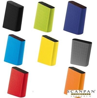 Scanpan Spectrum Soft Touch Uni Knife Block Universal  *Choose Your Colour*
