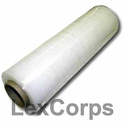 "Stretch Wrap 1 Roll 18"" X 1500 Feet 80 Gauge Move Pallet Luggage Plastic"