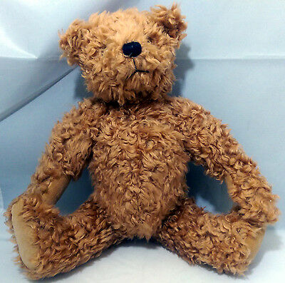 """Annette Funicello 12.5"""" Jointed Teddy Bear Beige Fur"""