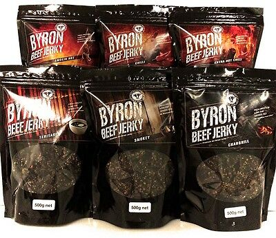 YUMMY Beef Jerky 4 x 500g bags. Choose your flavours