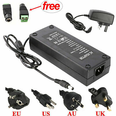 1A/2A/3A/5A/6A/8A/10A 12V Power Supply Charger Transformer LED Strips Adapter+DC