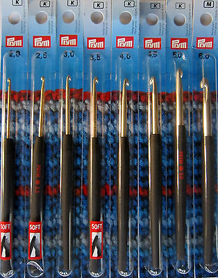 Prym Soft Handle Crochet Hook Set of 8