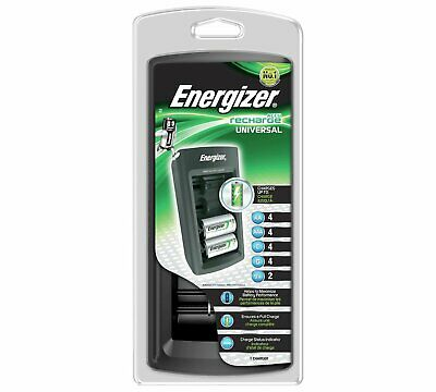 Energizer Universal Battery Multi Charger Charges - AAA AA C D 9V Batteries