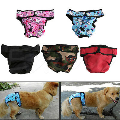 Reusable Washable Female Dog Diaper Breeds Physiological Pants Big Dog S-Xl New