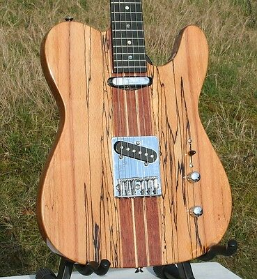 Sehr Edle Weller Telematik, Massiv Spalted Maple + Mahagoni, Neck Thru, Grover