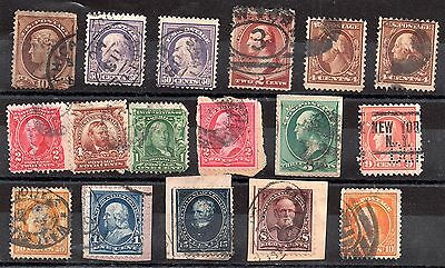 USA interesting early used collection x 17v to 50c WS618