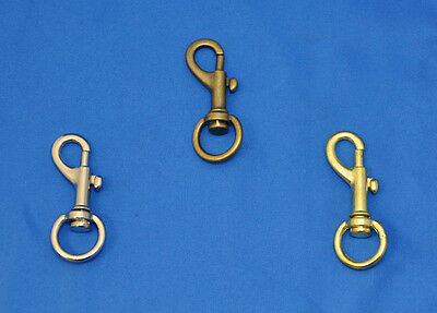 Metal Swivel Bag, Purse Clip Hook- 1/2 Inch Opening- 10 Piece Lot- 3 Colors- NEW