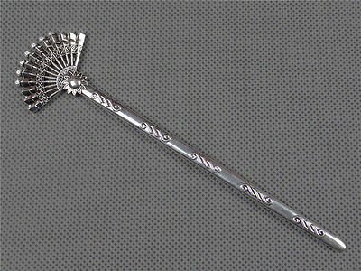 Antique China Miao Silver Hallmarked Cupronickel Hair Clasp Ornament#1330