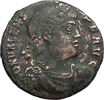 "VALENS ""Last True Roman"" w labarum 364AD Ancient Roman Coin Christ monog  i56120"