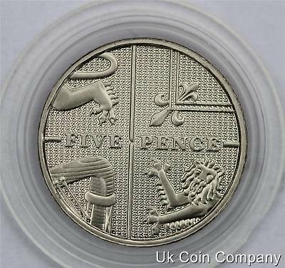2009 Royal Arms Uk Decimal Proof 5p Five Pence Coin