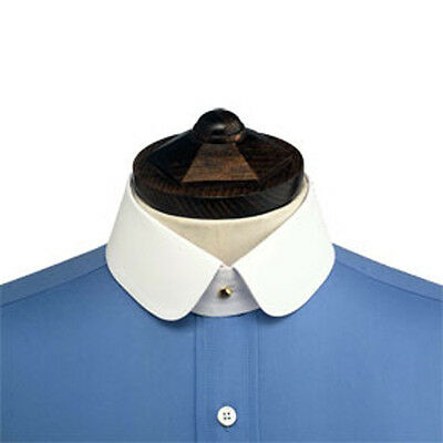 BRAND NEW Starched Stiff Detachable Shirt Collar DOUBLE ROUNDED. (COLLAR ONLY)