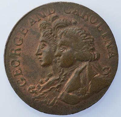 1796 Middlesex Farthing Prince Regent and Carolina DH 1144 lustrous
