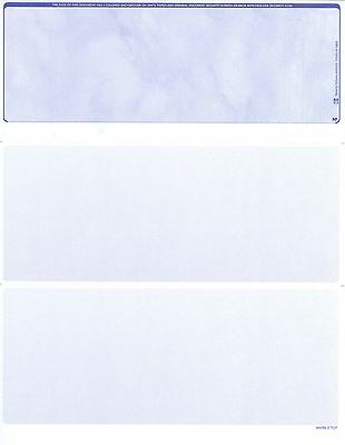 Blank Check Paper Stock-Check On Top-Sky Blue-Count/500