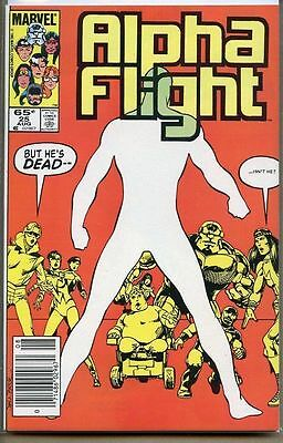Alpha Flight 1983 series # 25 UPC code very fine comic book
