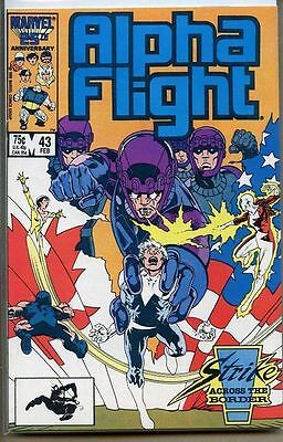Alpha Flight 1983 series # 43 near mint comic book