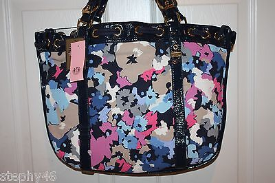 1f48db465d1b JUICY COUTURE Regal Blue Multi Floral Sequin Canvas BEVERLY Tote  228