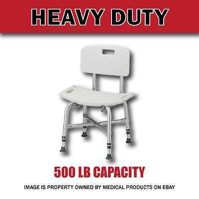 Extra Wide Heavy Duty Bariatric Bath Bench Shower Tub Chair Seat with Back