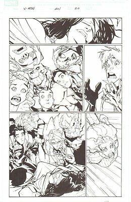 X-Men #201 p.20 - Lots of Characters - 2007 Signed art by Humberto Ramos
