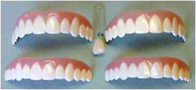 Cosmetic Snap On Teeth Dental Imako Upper Bleached Small Tooth Smile Cover Front