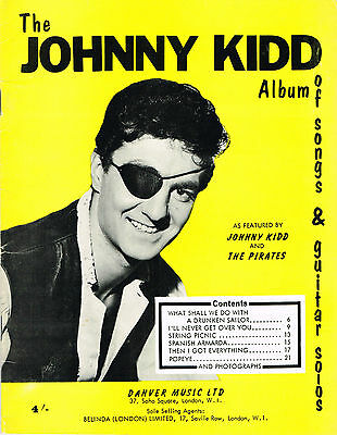 Johnny Kidd & The Pirates Album Of Songs And Guitar Solos Very Rare Sheet Music
