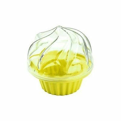 Fox Run 1 CUPCAKE/MUFFIN CARRIER Yellow To Go Container Lunch Durable Plastic