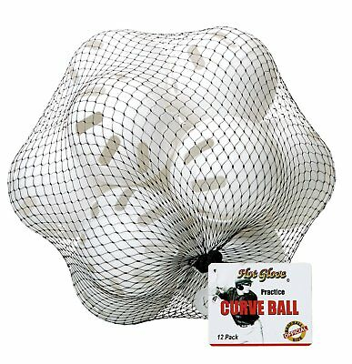 Unique Hot Glove Official Whiffle Ball Plastic Baseball Indoor Outdoor 12 Pack