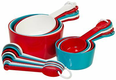 Progressive MEASURING CUP & SPOON SET 19 piece Red White & Blue Dishwasher Safe