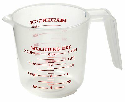 Norpro 2 Cup Measuring Cup Clear Plastic with Handle & Spout 1 Pint/500ml 3036