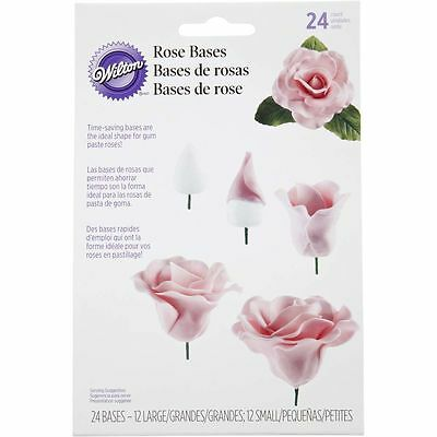 Wilton Gum Paste Rose Bases 24-Pack, Cake Decorating Supplies New Hand Wash