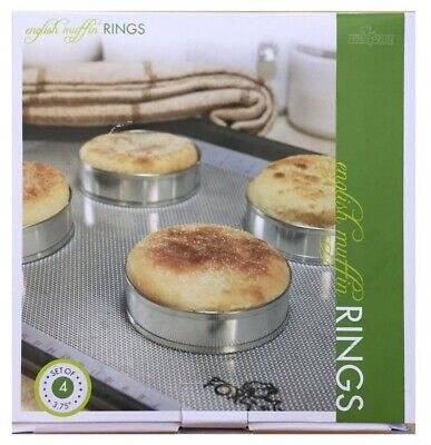 Fox Run 4 Pc English Muffin Crumpet Biscuit Cookie Rings Cutter Set Egg Pancake
