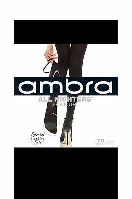 NEW Ambra All Nighters 70D Opaque Black
