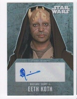 2016 Star Wars Evolution autograph card Hassani Shapi