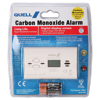 Quell Carbon Monoxide Detector Digital Display Alarm with No Wiring (Model PD04)