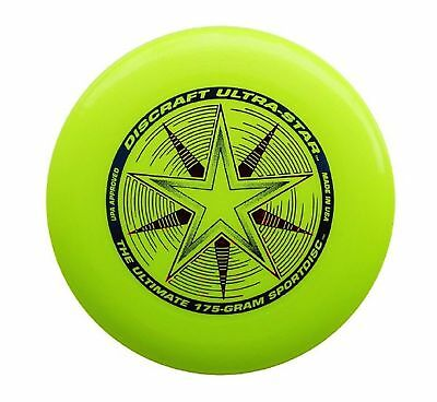 Discraft Ultra-Star Ultimate Frisbee 175 Gram Championship Sportdiscs-Yellow
