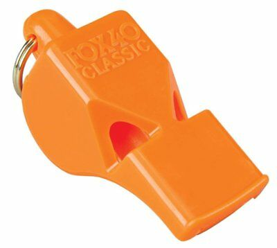 Fox 40 Classic Official 3-Chamber Pealess Whistle, Orange