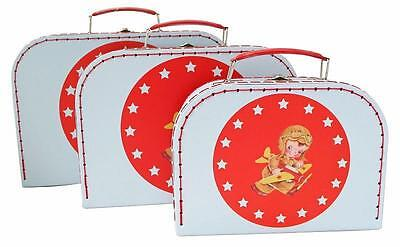 NEW Suitcase Set of 3 - Lil Pilot - Room Decor - Toy Storage Carry Case