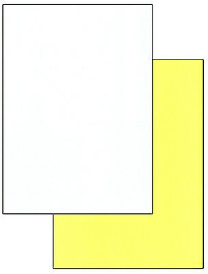 A4 Laser Carbonless Paper Duplicate. 250 Sets White/Yellow