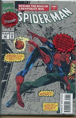 Spider-man 1990 series # 46 Polybagged near mint comic book